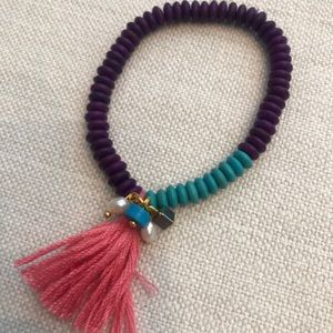 JewelryMint Tassel Beaded Bracelet